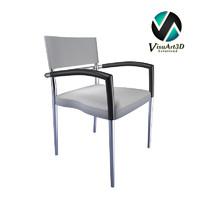modern armchair airon 2 3d model