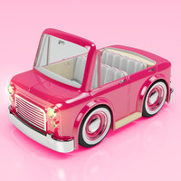 3d cartoon car sedan convertible