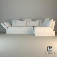 3d flexform sofa sunny model