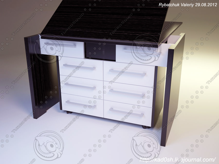 3d 3ds dresser table