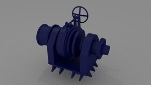 mooring winch 3ds