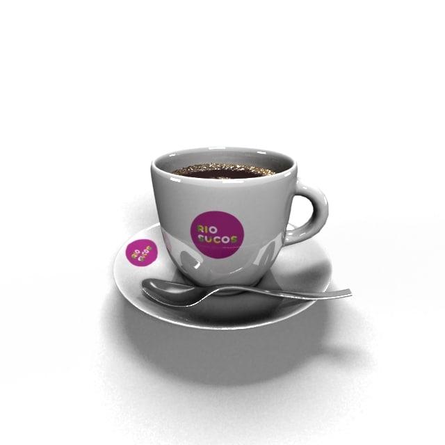 coffe cup 3d max