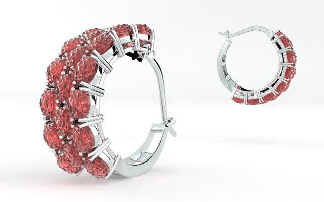 3d model earrings accessories