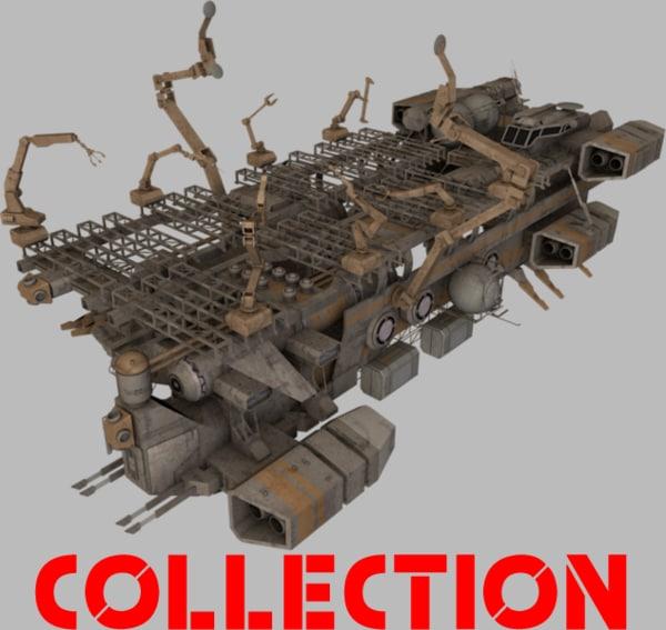 spaceships ship transport 3d obj