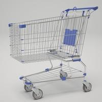 shopping cart 3d max