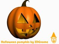 3d halloween pumpkin model