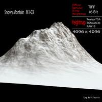 snowy mountain m1-03 3d model