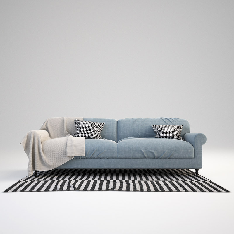 3ds max scandinavian sofa set