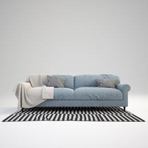 3ds max scandinavian sofa set