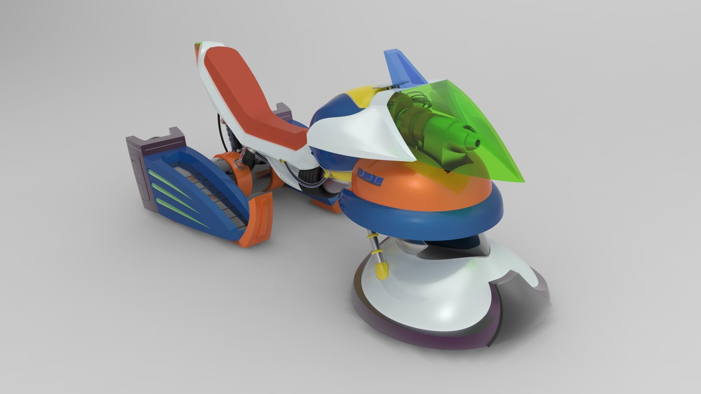 3d model of cheval ride chaser megaman