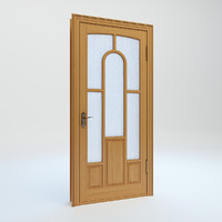 3d wooden interior door glass