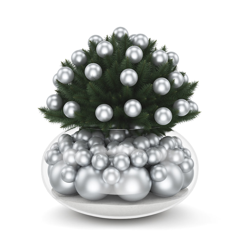 3d model table decoration christmas