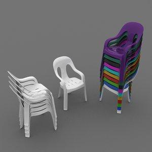 3dsmax plastic chair armchair