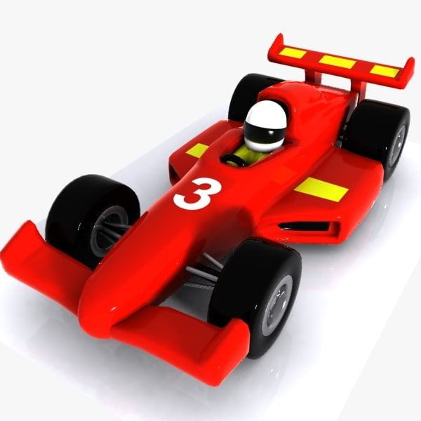 cartoon racing car 3ds