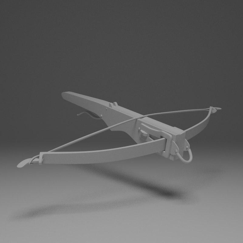 3d model medieval crossbow