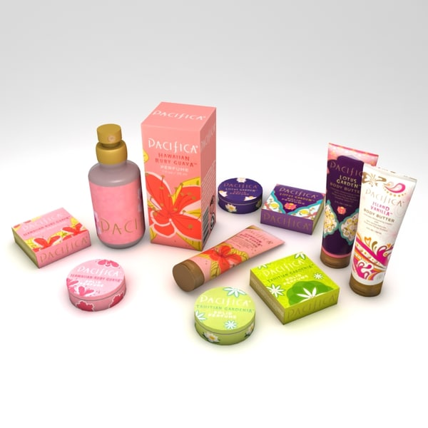 beauty products 3d max