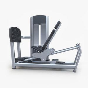 seated leg press 3d 3ds