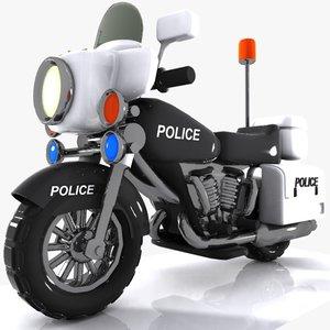 toon police motor 3d 3ds