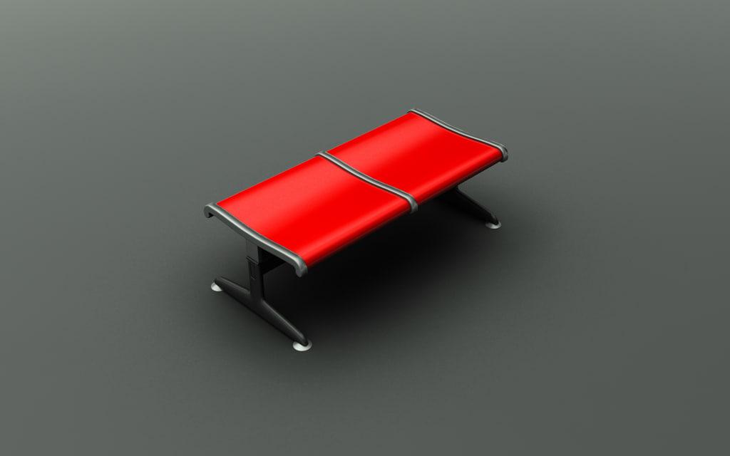 3d airport seating model