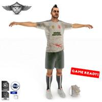 zombie killer soccer 3d model