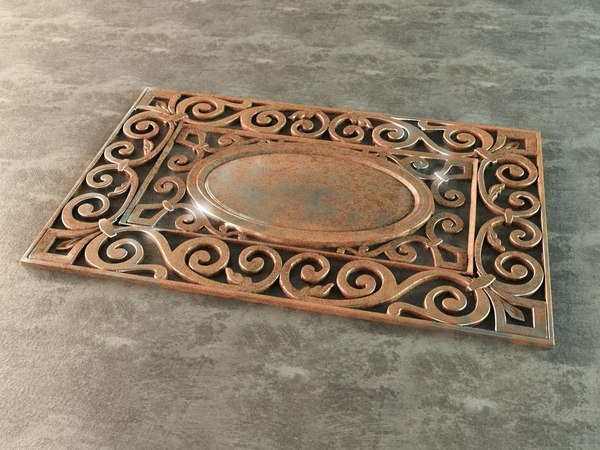 3ds max ornamental grille vegetable