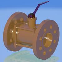 gas valve 3d model