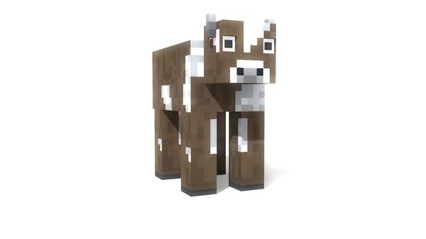 3d model cow minecraft
