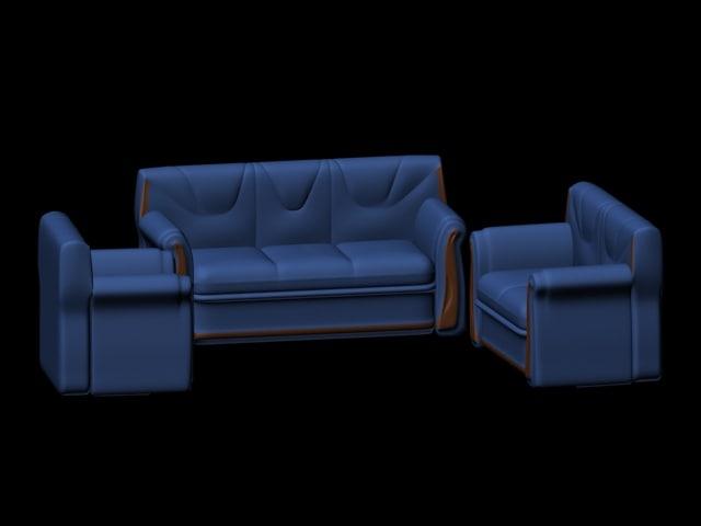 3 sofas 3d model