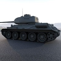 T34-85 High poly
