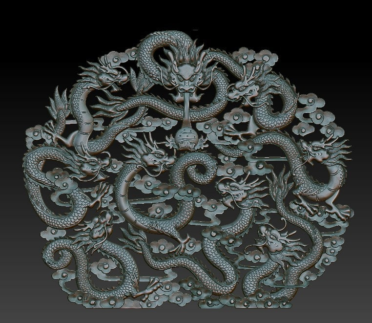 3d chinese dragons! dragon! model