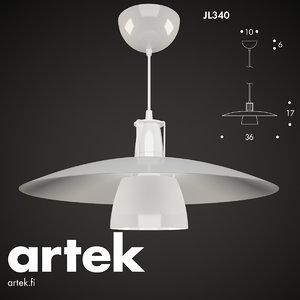 3d pendant lamp jl340 artek