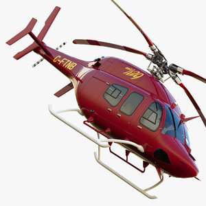 bell 429 ems helicopter 3d max