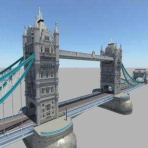 3d model london tower bridge