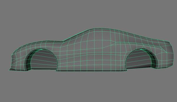 3d car proxy model
