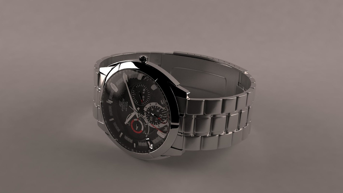 watch casio wr 100m 3d model