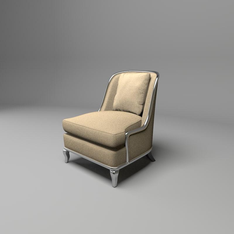 traditional armchair empress baker fbx