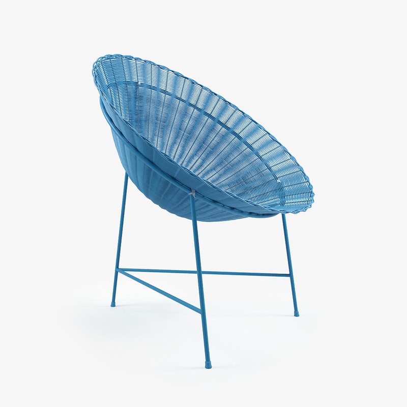 Circle Chair chair straw 3d model