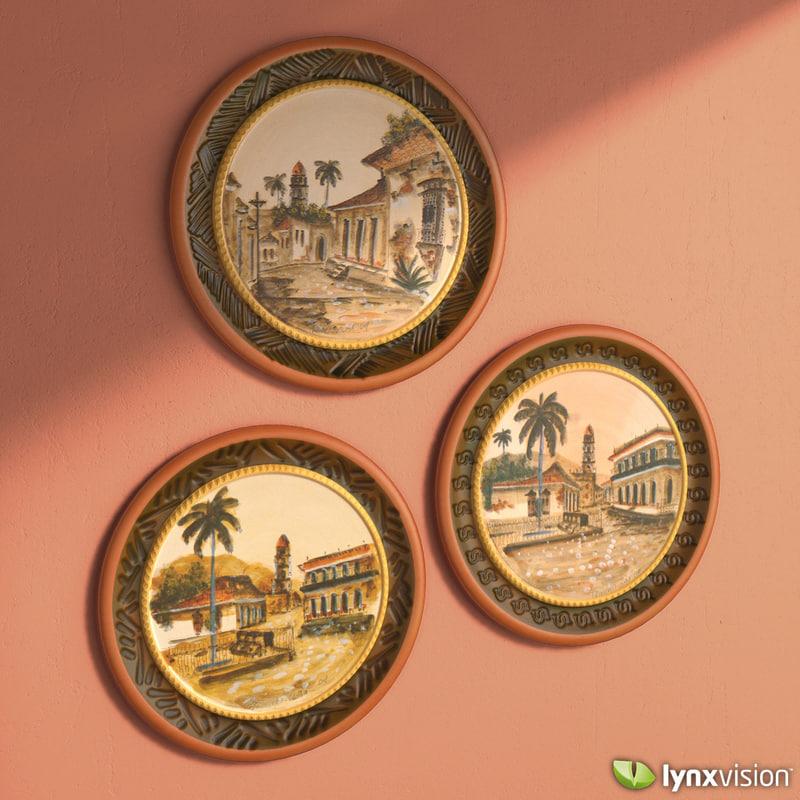 hand painted decorative plates fbx