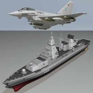 f-124 sachsen ef2000 typhoon 3d 3ds