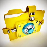 3d model folder combination lock