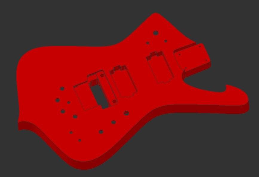 x iceman guitar body