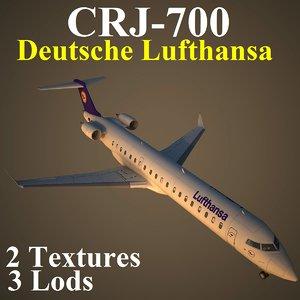 regional jet dlh 3d max
