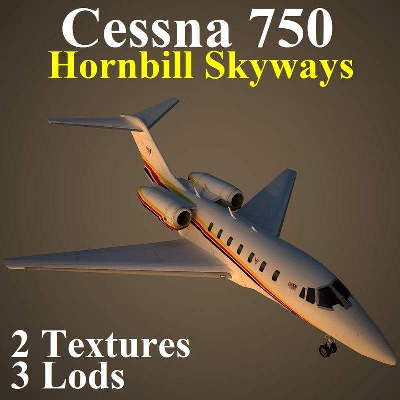 cessna 750 hbs 3d model