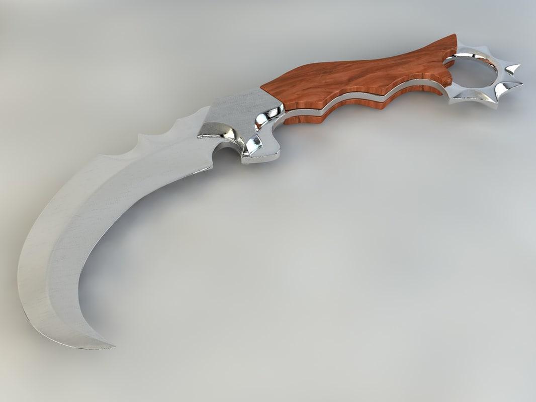 karait knife c4d