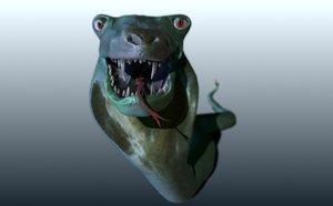 3d lenny snake model