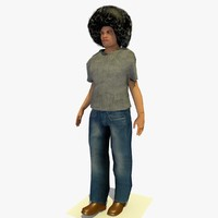 3d model realistically standing african male