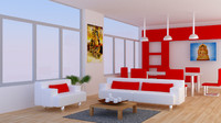 room office 3d blend