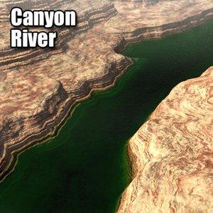 3dsmax canyon river