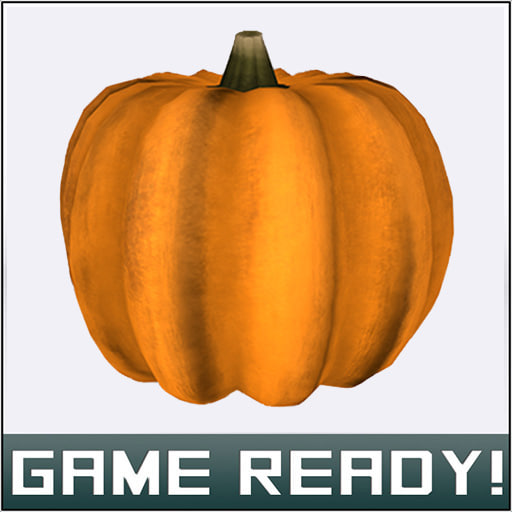 autumn pumpkin 5 3d model