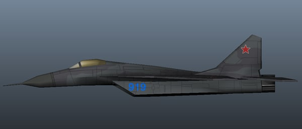 3d model airplane military